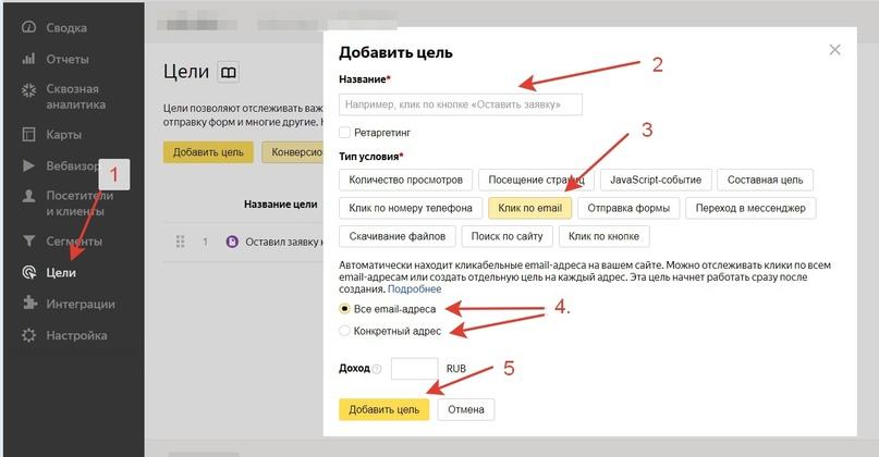 Как Настроить Цели В Яндекс.Метрике, изображение №2