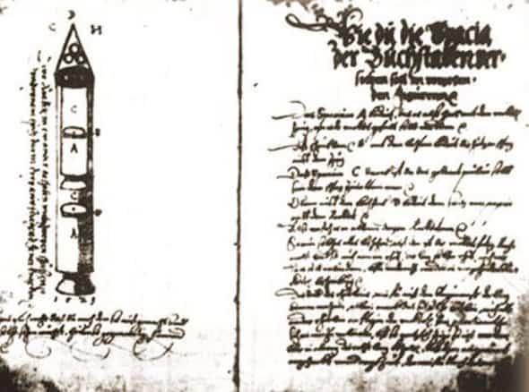 Ракеты XVI века: пилотируемые, многоступенчатые и с соплами, изображение №13