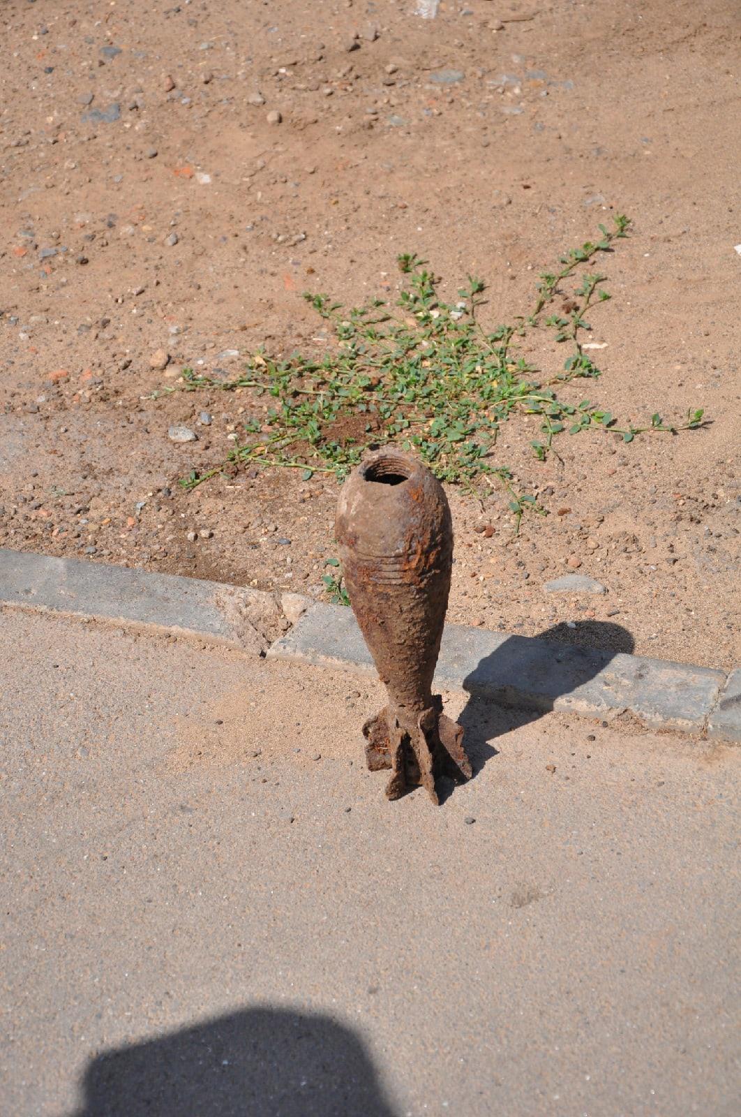 Миномётный снаряд нашли рядом со школой в