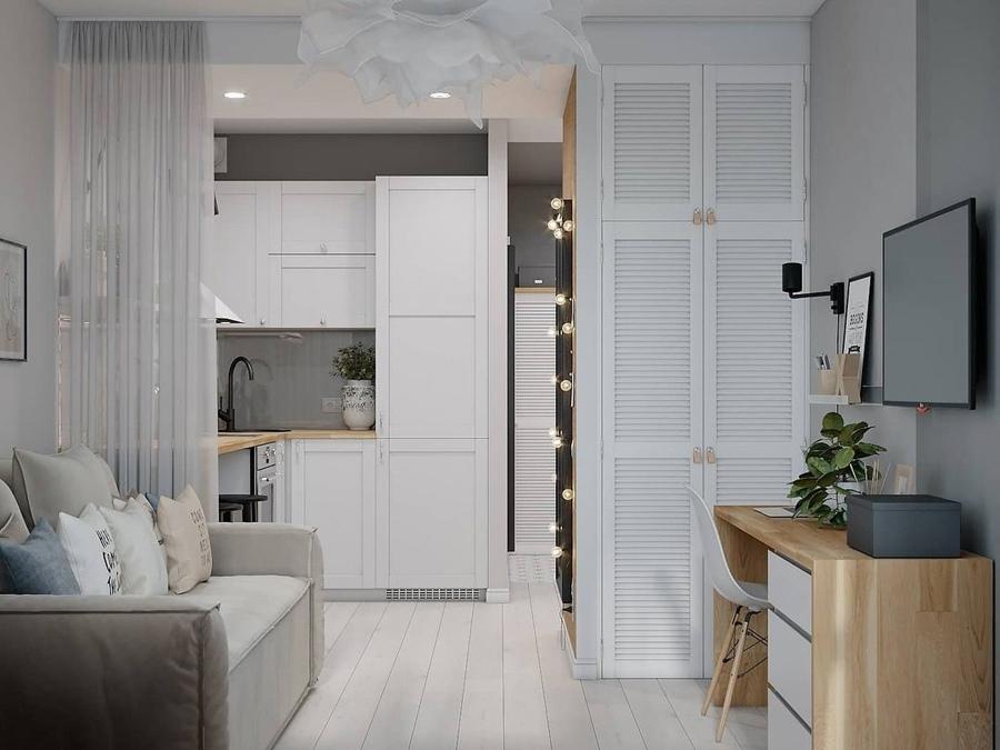 Проект маленькой квартиры-студии почти 22 кв.