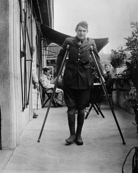 Хемингуэй в сентябре 1918, Милан