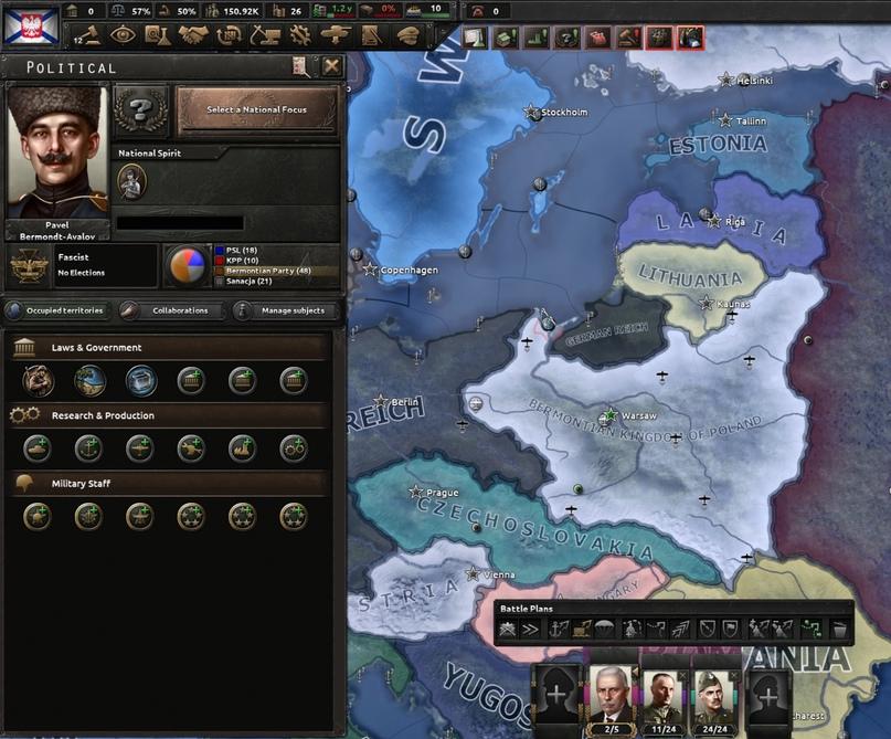 Дневник разработчиков Hearts of Iron IV — Изменение древа фокусов Польши, часть 2, изображение №20