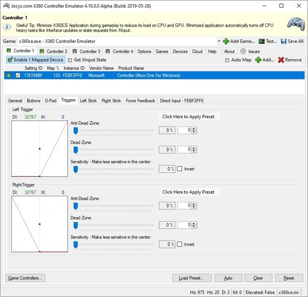 TocaEdit Xbox 360 Controller Emulator screenshot #1