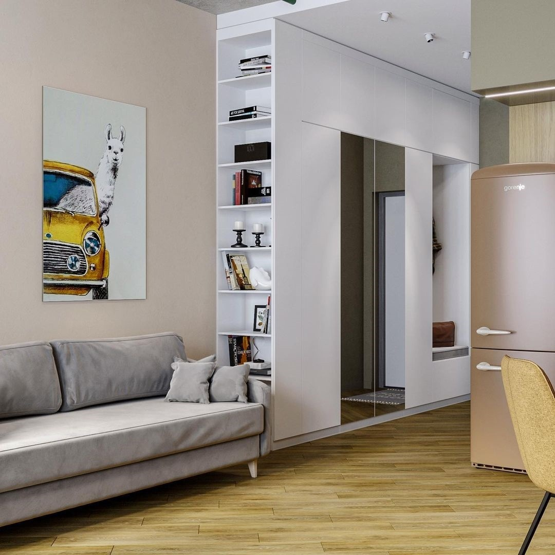 Проект квартиры-студии 31 кв.