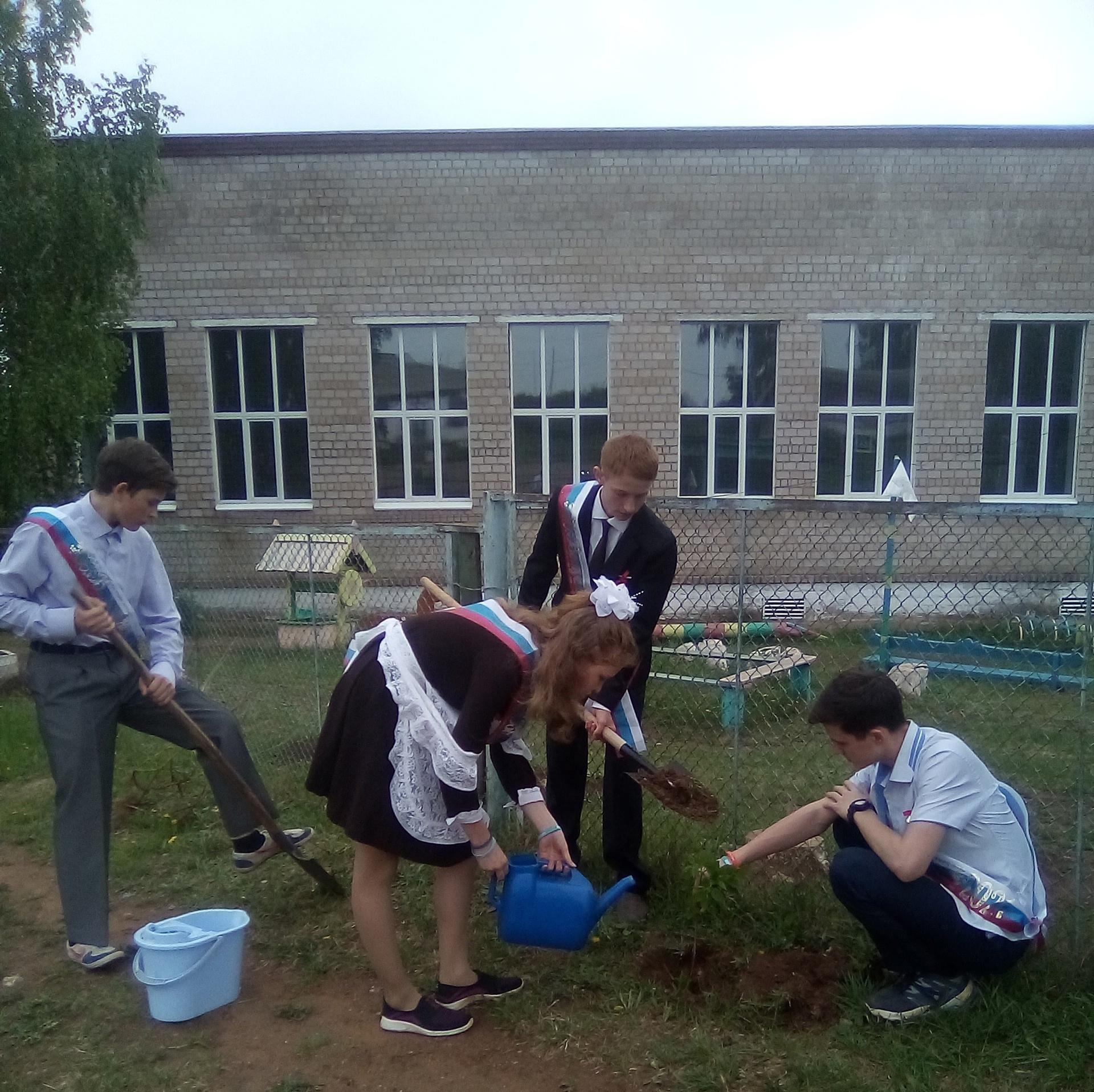 Памятная посадка деревьев выпускниками школ района!✨К международной