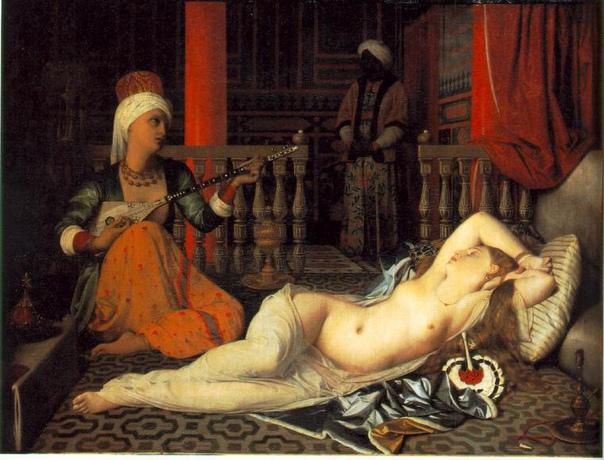 «Гаремная» живопись Для европейца конца XVIII начала XIX века Ближний восток был почти неизвестным, но очень манящим местом. Слухи о пышности султанского двора ползли во все стороны, долетая и