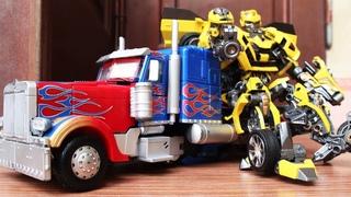 Bumblebee vs Optimus Prime Autobots - Decepticon Stop Motion Final Fight Scene Movie Clip 4K