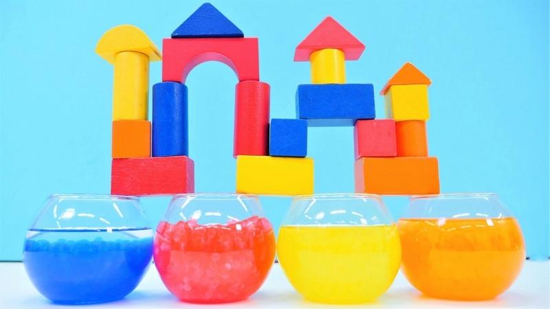 Çocuk videosu. Yapı taşlarını renklendiriyoruz. Boyama oyunları