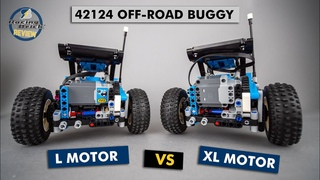 XL motor swap in the LEGO Technic 42124 Off-road buggy - is it any better?