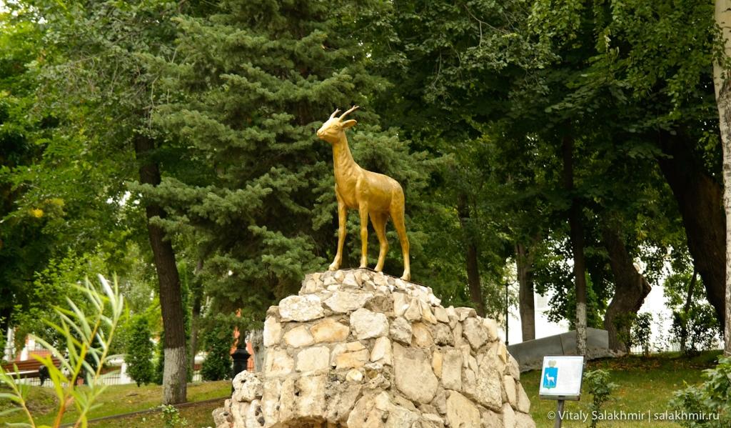 Скульптура козел, Самара 2020