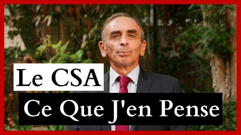 Réaction d'Éric Zemmour à la décision du CSA réponse à Cyril Hanouna