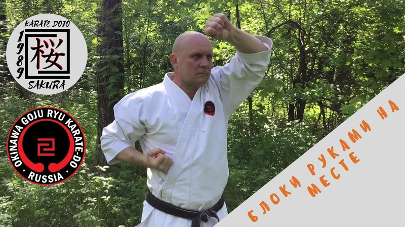 Блоки руками в Годзю - рю каратэ на месте (аттестационная программа)