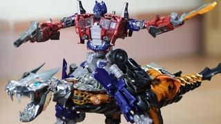 Optimus Prime Stop Motion vs. Grimlock & Dinobots vs Decepticons Transformers: Age Of Extinction