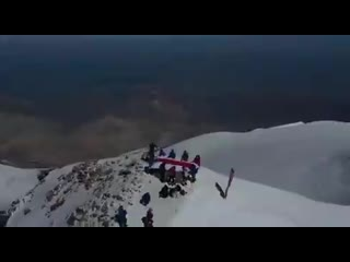 БЧБ-флаг на вершине Эльбруса!  Срочно вызывайте ОМОН!