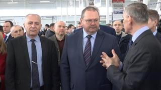 Кузнецк с рабочим визитом посетил врио губернатора Пензенской области Олег Мельниченко. Апрель 2021