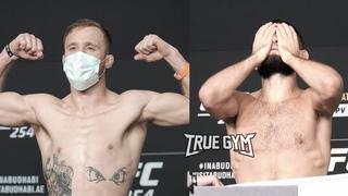Хабиб - Гэтжи взвешивание перед боем / Gaethje vs Khabib weight in UFC 254