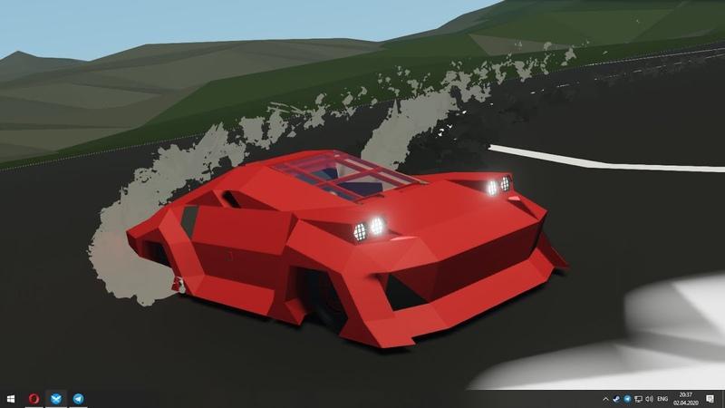 Stormworks speedy red car