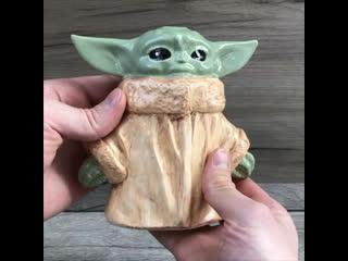Копилка малыш Йода - керамика