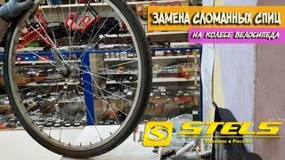 Замена сломанных спиц на колесе велосипеда Stels Navigator 340 Lady