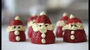 Cheesecake Strawberry Santas Christmas Recipe