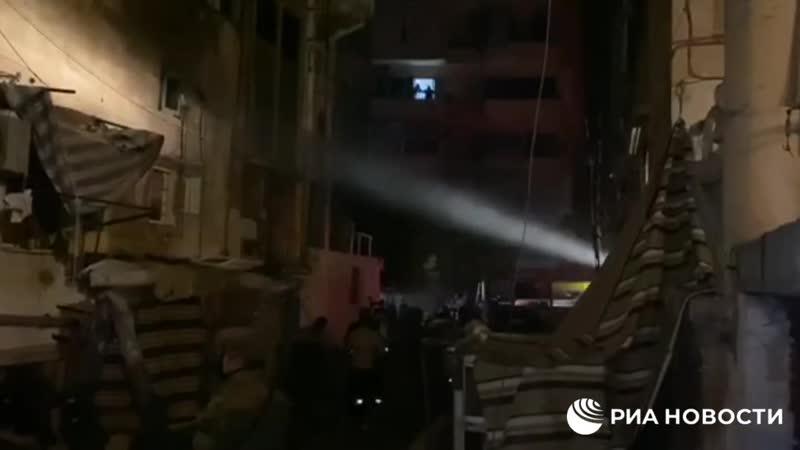 Мощный взрыв на топливном складе в Бейруте 2