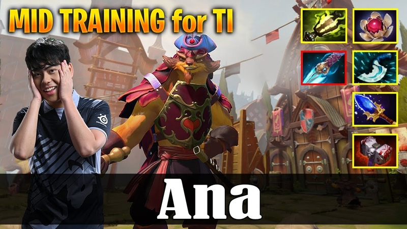 Ana - Pangolier | MID TRAINING for TI | Dota 2 Pro MMR Gameplay