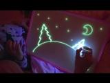 Рисуй светом - набор для рисования в темноте
