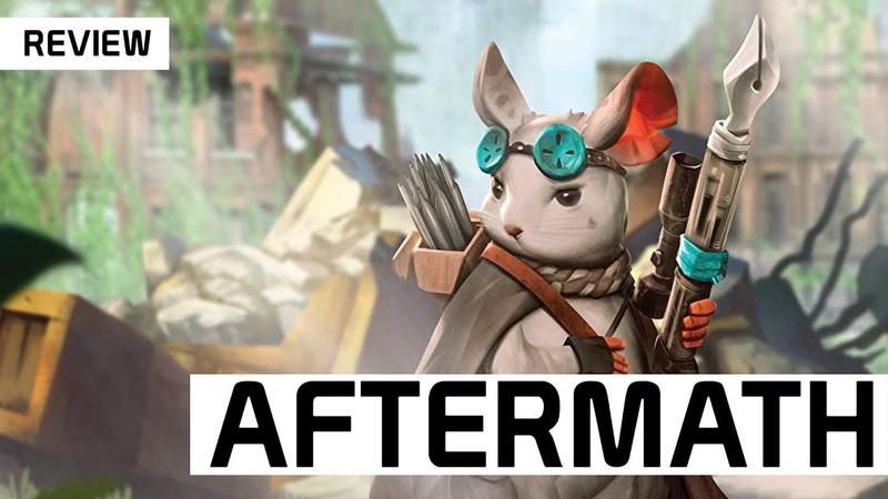 Review: Aftermath Apokalyptisches Brettspiel der Mouse und Mystic Macher DICED