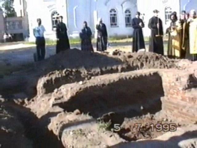 Кадр из видеозаписи с раскопок