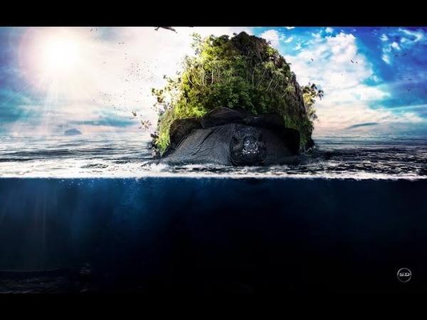 Speed Art photoshop - _ Underwater _Surreal Tartaruga em Alto Mar
