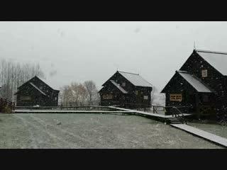 Снег на базе отдыха Волынь.mp4