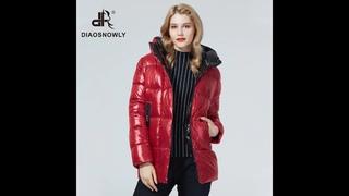 Diaosnowly 2021 пуховик женский зимний зимняя женская куртка и парка одежды для женщин средней длины