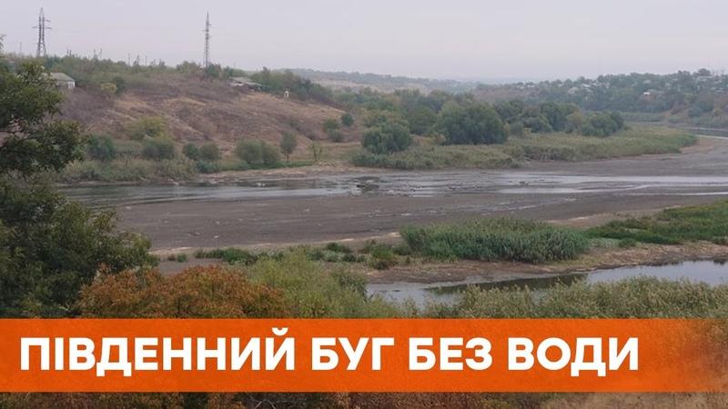 В Южном Буге исчезла вода река обмелела Люди обвиняют в инциденте местную ГЭС