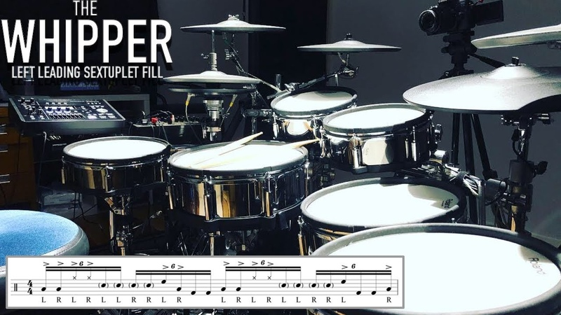 The Whipper - Left Leading Sextuplet Chop/Fill - Drum Lesson By Nick Bukey