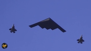 Top 10 Stadium Flyovers, Black Hawks, F-22, B2 Stealth bomber