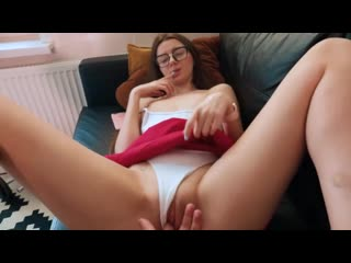 Step Sister Ends up with Cum on her Face and Glasses