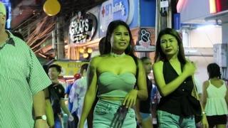 Pattaya Walking Street at Night